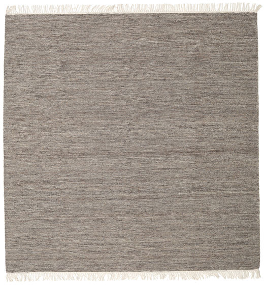 Melange - Brown Rug 250X250 Authentic  Modern Handwoven Square Light Grey/Dark Grey Large (Wool, India)