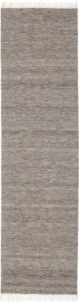 Melange - 茶 絨毯 80X300 モダン 手織り 廊下 カーペット 薄い灰色/濃いグレー (ウール, インド)