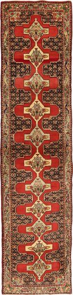 Senneh Alfombra 85X370 Oriental Hecha A Mano Marrón/Rojo Oscuro/Marrón Claro (Lana, Persia/Irán)
