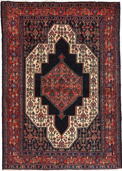 Senneh Covor 115X163 Orientale Lucrat Manual Roșu-Închis/Negru (Lână, Persia/Iran)