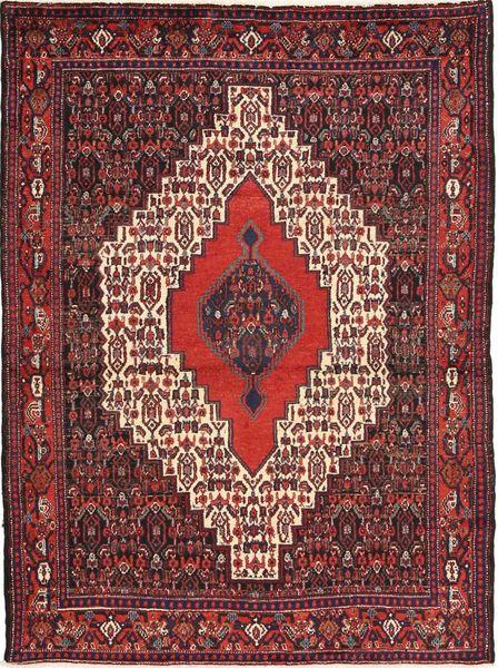 Senneh Tapis 122X162 D'orient Fait Main Rouge Foncé/Marron Foncé (Laine, Perse/Iran)