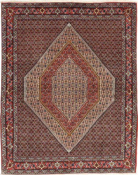 Senneh Matta 123X161 Äkta Orientalisk Handknuten Ljusbrun/Mörkbrun (Ull, Persien/Iran)