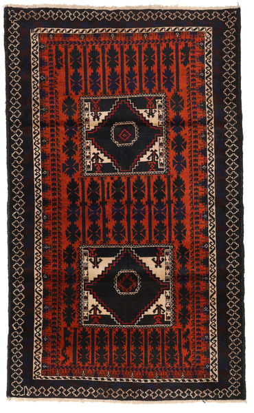 Baluch Rug 103X172 Authentic  Oriental Handknotted Dark Red/Rust Red (Wool, Afghanistan)