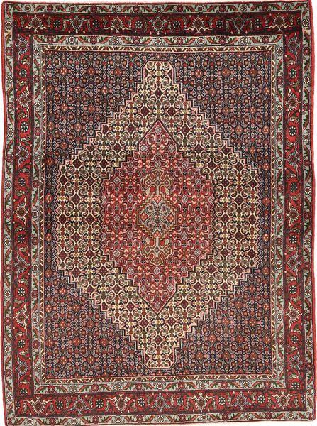 Senneh Tapis 125X170 D'orient Fait Main Rouge Foncé/Marron (Laine, Perse/Iran)