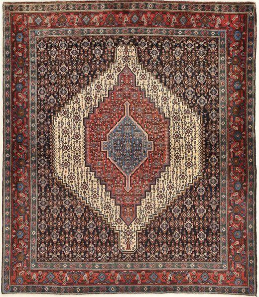 Senneh Matto 128X148 Itämainen Käsinsolmittu Vaaleanruskea/Tummanruskea (Villa, Persia/Iran)