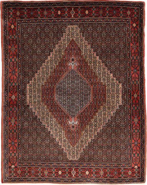 Senneh Koberec 130X162 Orientální Ručně Tkaný Tmavě Hnědá/Světle Hnědá (Vlna, Persie/Írán)