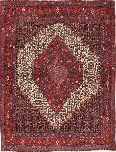 Senneh Alfombra 122X160 Oriental Hecha A Mano Rojo Oscuro/Marrón (Lana, Persia/Irán)