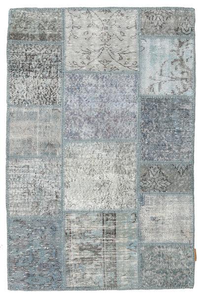 Patchwork Rug 100X150 Authentic  Modern Handknotted Light Grey/Dark Grey (Wool, Turkey)