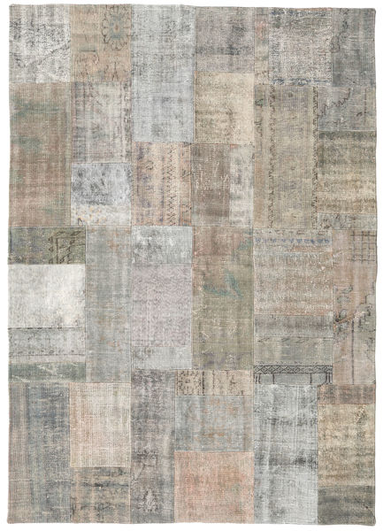 Patchwork Rug 171X241 Authentic  Modern Handknotted Light Grey/Light Brown (Wool, Turkey)