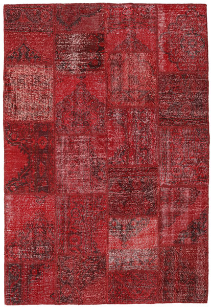 Patchwork Tapis 157X231 Moderne Fait Main Rouge Foncé/Rouge (Laine, Turquie)