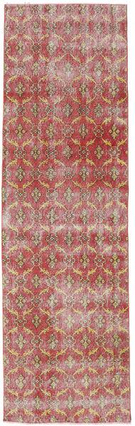 Colored Vintage Szőnyeg 93X310 Modern Csomózású Világosbarna/Rozsdaszín (Gyapjú, Törökország)