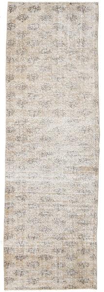 カラード ヴィンテージ 絨毯 90X283 モダン 手織り 廊下 カーペット 薄い灰色/ホワイト/クリーム色 (ウール, トルコ)