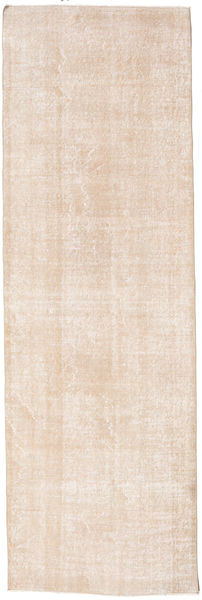 Colored Vintage Rug 100X308 Authentic  Modern Handknotted Hallway Runner  White/Creme (Wool, Turkey)