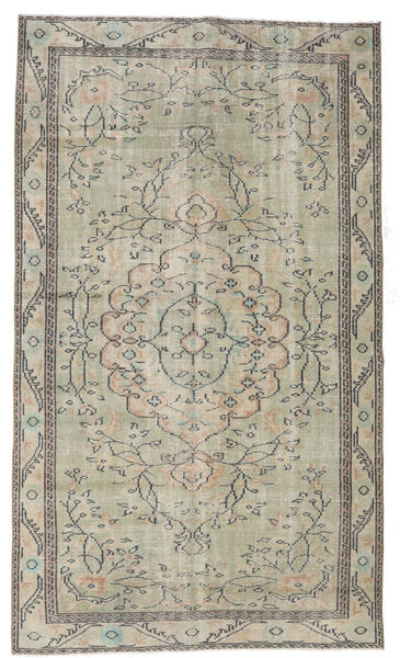 Colored Vintage Rug 154X263 Authentic  Modern Handknotted Light Grey/Light Brown (Wool, Turkey)