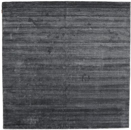 Bambú De Seda Loom - Charcoal Alfombra 250X250 Moderna Cuadrada Gris Oscuro/Azul Oscuro Grande ( India)