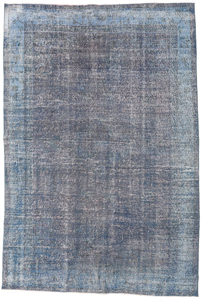 Colored Vintage Rug 195X296 Authentic  Modern Handknotted Light Blue/Dark Grey (Wool, Turkey)