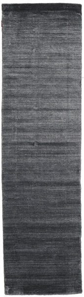 Bamboo Silk Loom - Charcoal Rug 80X300 Modern Hallway Runner  Dark Grey/Dark Blue ( India)