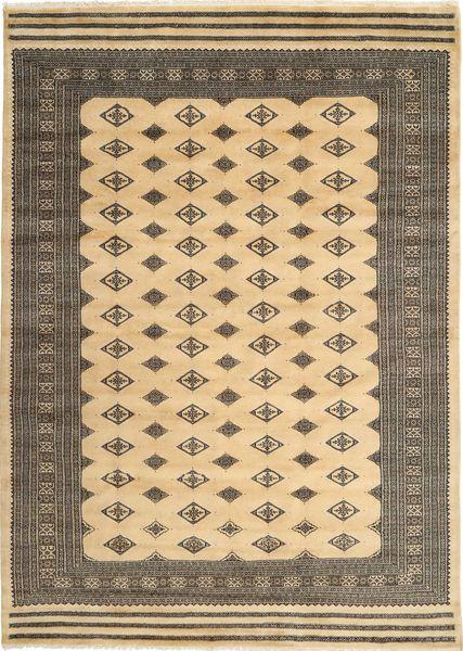 Pakistan Bokhara 3Ply Matto 200X274 Itämainen Käsinsolmittu Tummanbeige/Vaaleanruskea (Villa/Silkki, Pakistan)