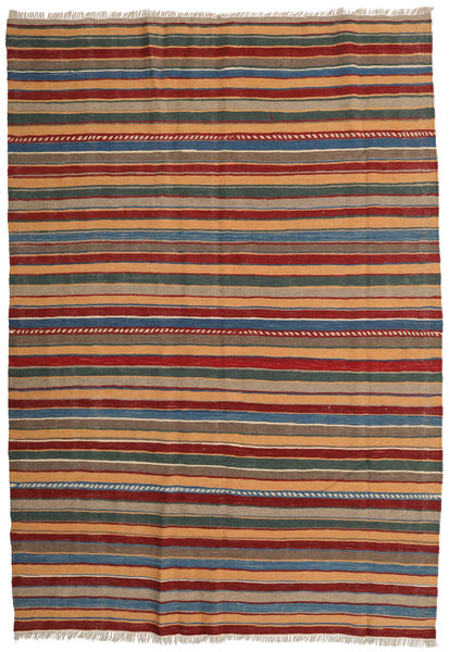 Kilim Rug 163X235 Authentic  Oriental Handwoven Light Brown/Dark Red (Wool, Persia/Iran)
