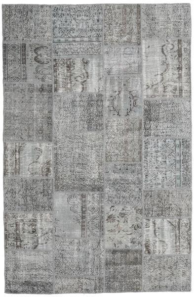 Patchwork Rug 195X300 Authentic  Modern Handknotted Light Grey/Dark Grey (Wool, Turkey)
