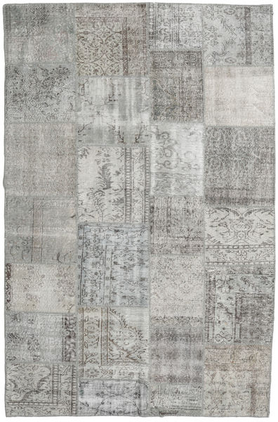 Patchwork Rug 196X303 Authentic  Modern Handknotted Light Grey (Wool, Turkey)