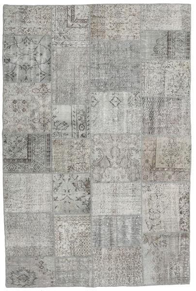 Patchwork Rug 195X296 Authentic  Modern Handknotted Light Grey/Dark Grey (Wool, Turkey)