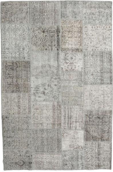 パッチワーク 絨毯 196X300 モダン 手織り 薄い灰色 (ウール, トルコ)