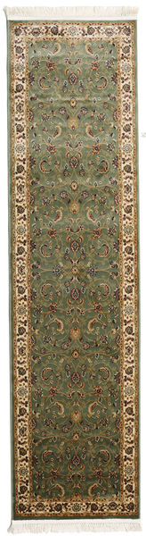 Sarina - Green Rug 80X300 Modern Hallway Runner  Dark Brown/Light Brown ( Turkey)