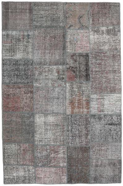 Patchwork Rug 196X302 Authentic  Modern Handknotted Light Grey/Dark Grey (Wool, Turkey)