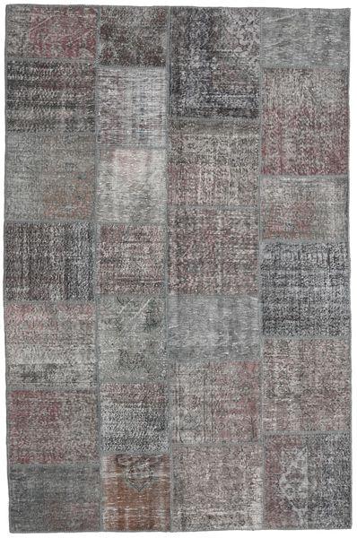Patchwork Rug 198X300 Authentic  Modern Handknotted Light Grey/Dark Blue (Wool, Turkey)
