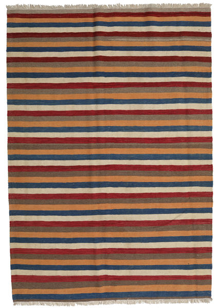 Kilim Rug 174X250 Authentic  Oriental Handwoven Dark Brown/Dark Grey (Wool, Persia/Iran)