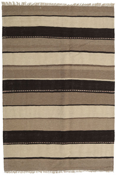 Kilim Rug 130X193 Authentic  Oriental Handwoven Light Grey/Light Brown/Black (Wool, Persia/Iran)