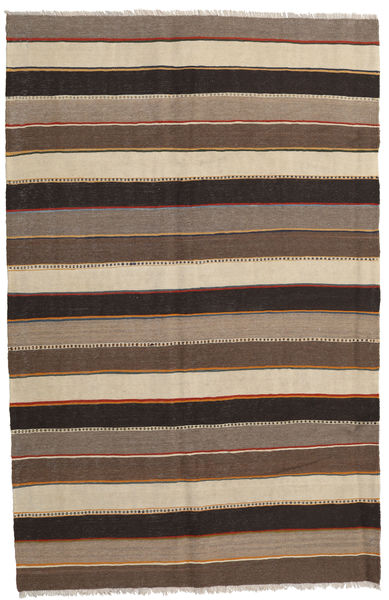 Kilim Rug 161X250 Authentic  Oriental Handwoven Brown/Light Grey/Dark Grey (Wool, Persia/Iran)