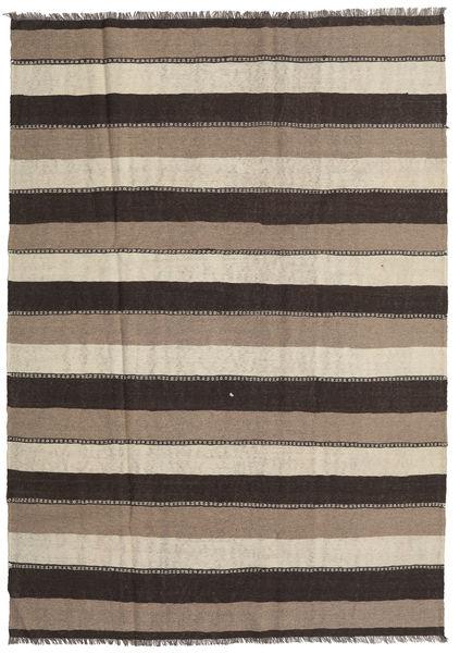Kilim Rug 190X269 Authentic  Oriental Handwoven Light Grey/Dark Grey (Wool, Persia/Iran)