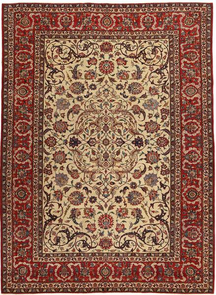 Isfahan Patina Alfombra 240X327 Oriental Hecha A Mano Marrón Claro/Rojo Oscuro/Marrón Oscuro (Lana/Seda, Persia/Irán)