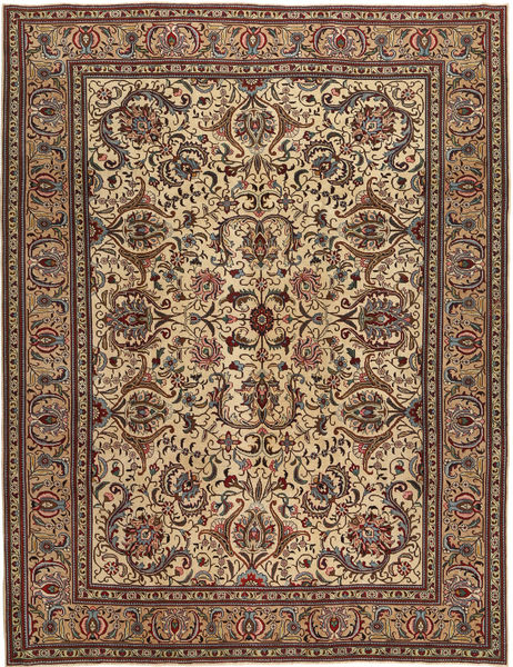 Tabriz Patina Rug 253X330 Authentic  Oriental Handknotted Light Brown/Dark Brown/Brown Large (Wool, Persia/Iran)
