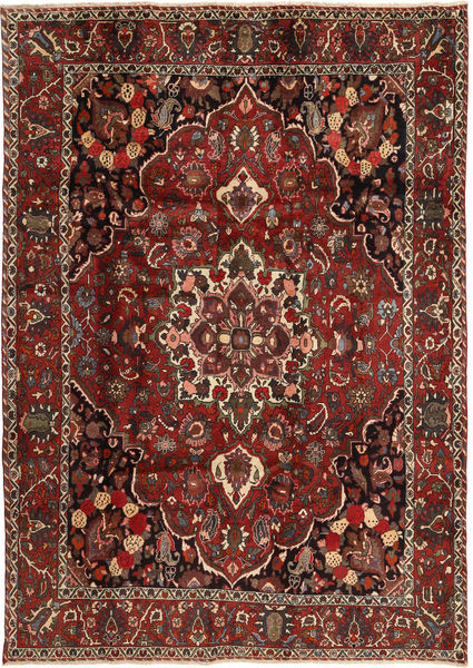 Bakhtiari Rug 207X300 Authentic  Oriental Handknotted Dark Red/Dark Brown (Wool, Persia/Iran)