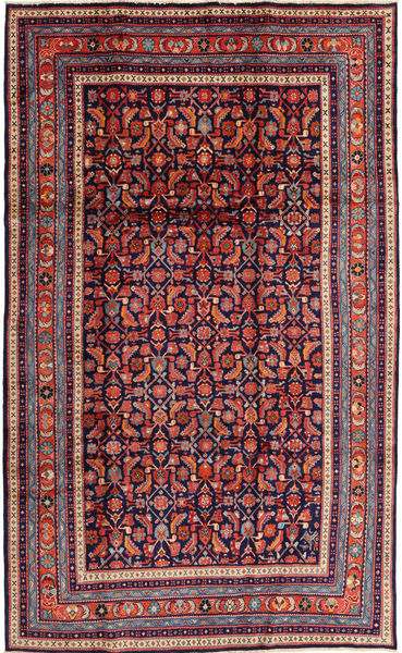 Arak Rug 200X330 Authentic  Oriental Handknotted Dark Purple/Dark Red (Wool, Persia/Iran)