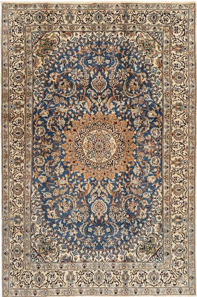 Nain##9La Matta 187X286 Äkta Orientalisk Handknuten Ljusbrun/Mörkgrå (Ull, Persien/Iran)
