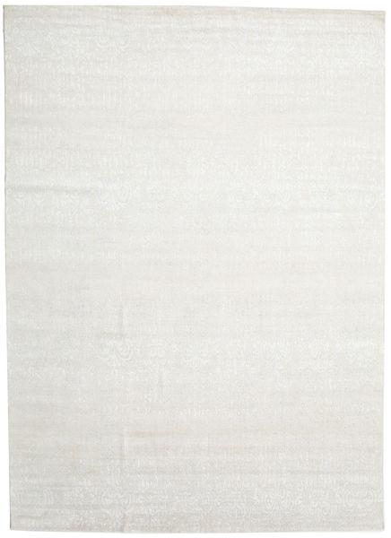 Himalaya Matto 297X415 Moderni Käsinsolmittu Beige/Tummanbeige Isot (Villa/Bambu Silkki, Intia)
