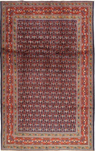 Sarough Mir Matto 202X327 Itämainen Käsinsolmittu Tummanvioletti/Ruskea (Villa, Persia/Iran)