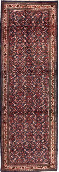 Mahal Matto 100X313 Itämainen Käsinsolmittu Käytävämatto Tummanpunainen/Tummansininen (Villa, Persia/Iran)