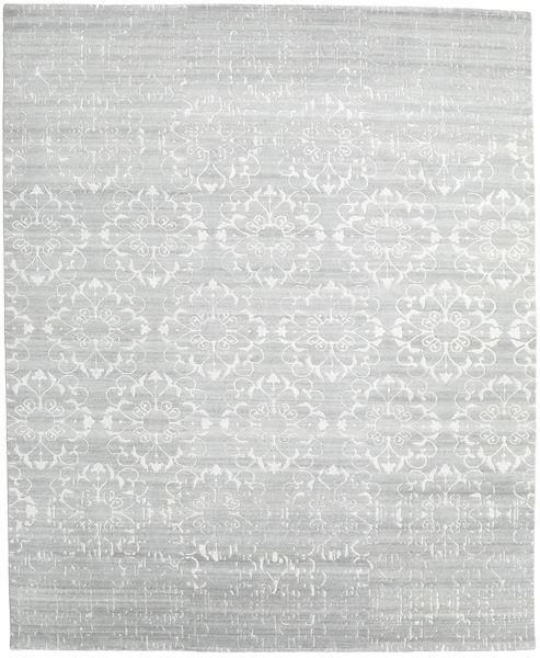 Himalaya Teppe 248X303 Ekte Moderne Håndknyttet Beige/Lys Grå (Ull/Bambus Silke, India)