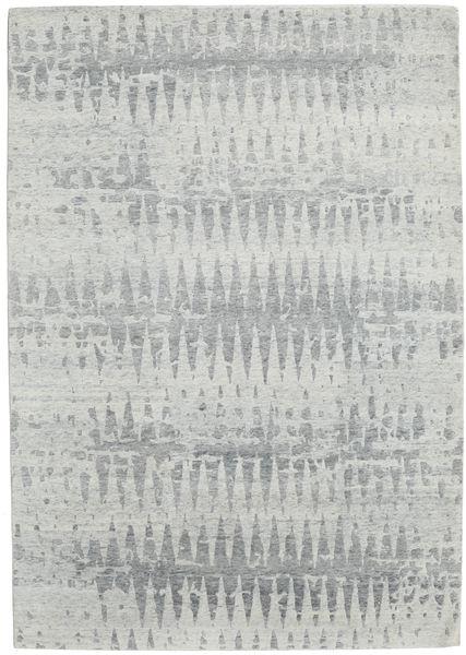 Himalaya Rug 212X302 Authentic  Modern Handknotted Light Grey (Wool/Bamboo Silk, India)