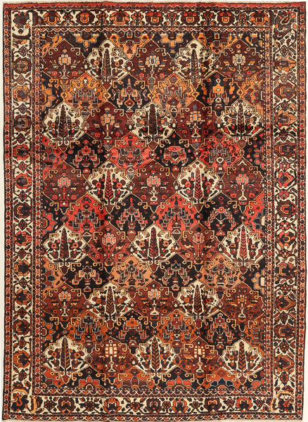 Bakhtiar Matta 207X303 Äkta Orientalisk Handknuten Mörkröd/Mörkbrun (Ull, Persien/Iran)