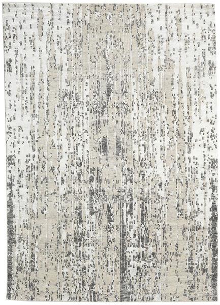Himalaya Tapis 169X240 Moderne Fait Main Gris Clair/Blanc/Crème (Laine/Soie De Bambou, Inde)