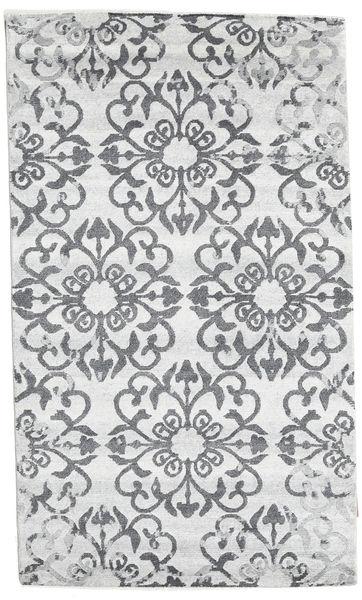Himalaya Matta 90X153 Äkta Modern Handknuten Vit/Cremefärgad/Beige/Ljusgrå (Ull, Indien)