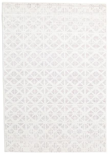 Himalaya Matto 170X243 Moderni Käsinsolmittu Valkoinen/Creme (Villa/Bambu Silkki, Intia)