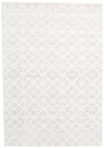 Himalaya Tapete 170X243 Moderno Feito A Mão Branco/Creme/Bege (Lã/Bamboo Seda, Índia)