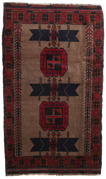 Baluch Rug 112X170 Authentic  Oriental Handknotted Dark Red/Light Brown (Wool, Afghanistan)